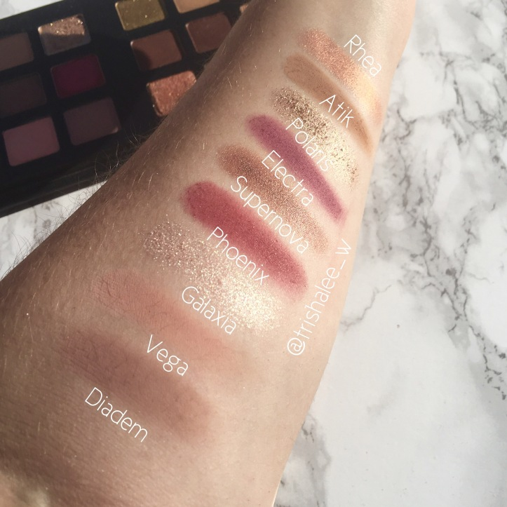 Natasha Denona Star Palette Cool Swatches