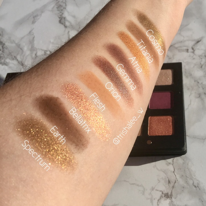 Natasha Denona Star Palette Warm Swatches